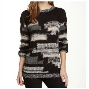 Kaii mixed knit gray, pink and black sweater A